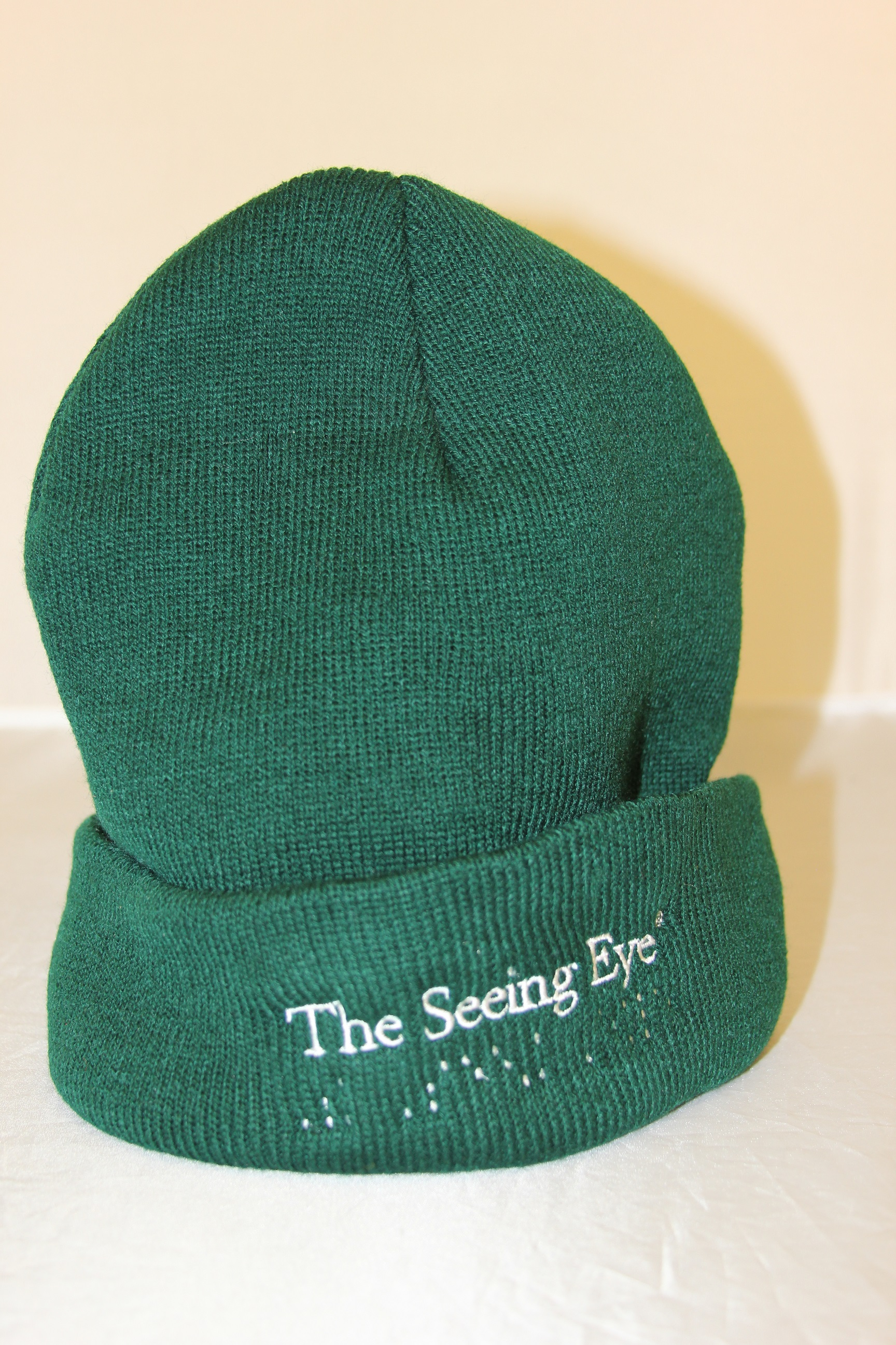 green knit winter hat